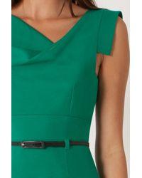 Black Halo Green Jackie O Dress