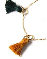 we11made - Multicolor 2 Color Tassel Bracelet - Lyst