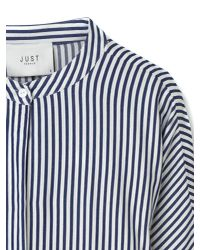 Just Female Blue Beach Shirt Dress