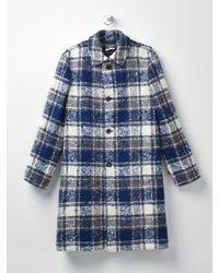 Marni Blue Overcheck Boucle Flannel_truffle Check