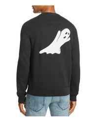 7 For All Mankind Black Vintage Ghost Sweatshirt for men