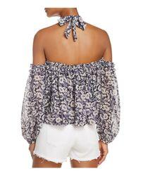 MISA Multicolor Lively Cold-shoulder Top