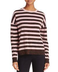 Rag & Bone - Pink Metallic-striped Sweater - Lyst