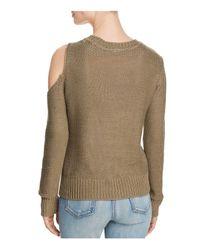 Aqua - Multicolor Cutout Sweater - Lyst