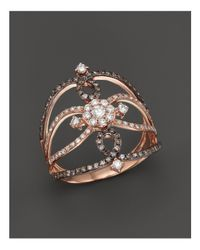KC Designs - Metallic Champagne And White Diamond Ring In 14k Rose Gold - Lyst