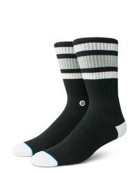 Stance Black Boyd 4 Crew Socks for men