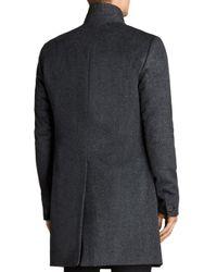 AllSaints Gray Bodell Coat for men