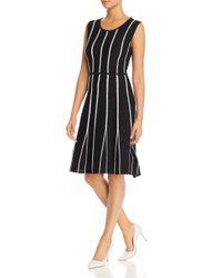 Calvin Klein Black Sleeveless Contrast - Seam Dress