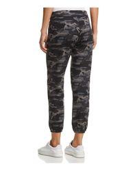 Monrow - Gray Zip-pocket Camo Vintage Sweatpants - Lyst