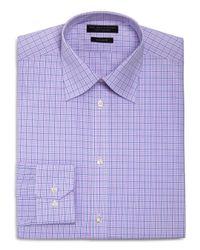 Bloomingdale's - Purple Overcheck Regular Fit Dress Shirt for Men - Lyst