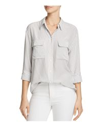 Equipment - White Signature Silk Shirt - Lyst