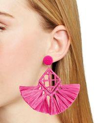 BaubleBar Pink Sahari Drop Earrings