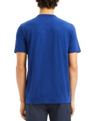 Theory Blue Essential Crewneck Short Sleeve Tee for men