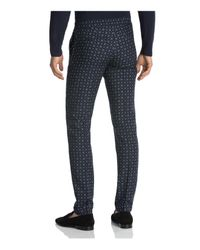 The Kooples | Black Retro Floral Print Slim Fit Trousers for Men | Lyst