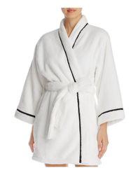 Kate Spade - White Short Wrap Robe - Lyst
