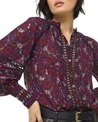 MICHAEL Michael Kors Purple Zinnia Paisley Print Blouse