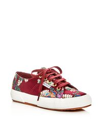 Superga 2750 Korelaw Embroidered Satin Lace Up Sneakers