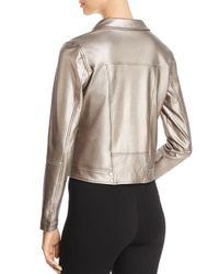 Lyssé Jones Metallic Faux Leather Moto Jacket