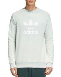 Adidas Originals Multicolor Raglan Logo Crewneck Sweatshirt for men