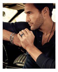 David Yurman - Chevron Signet Ring With Black Diamonds for Men - Lyst