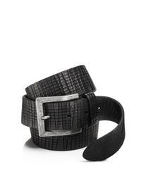John Varvatos | Black Artisan Textured Leather Belt for Men | Lyst