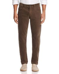 Bloomingdale's - Brown Corduroy Tailored Fit Pants for Men - Lyst
