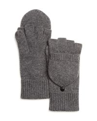 Bloomingdale's - Gray Pop Top Cashmere Gloves for Men - Lyst