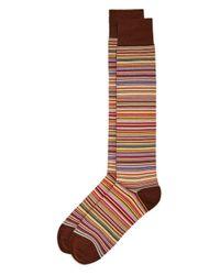 Paul Smith - Brown Multistripe Dress Socks for Men - Lyst
