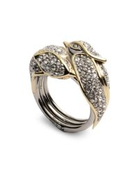 Alexis Bittar - Metallic Secret Love Bird Pavé Ring - Lyst