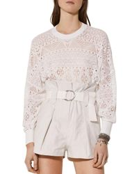 IRO White Peypin Lace Cotton Top