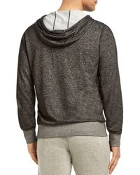2xist Gray Zip-front Hooded Speckled Knit Terry Jacket for men