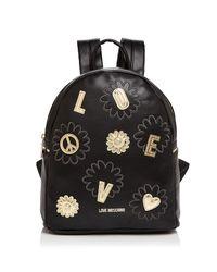 Love Moschino - Black Flower Backpack - Lyst