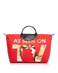 Longchamp Red As Seen On Tv Weekender