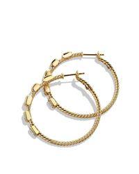 David Yurman Metallic Confetti Hoop Earrings With Diamonds In Gold