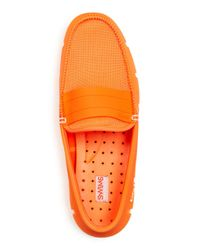 Swims - Orange Men's Stride Moc Toe Loafers for Men - Lyst
