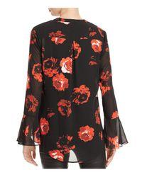 Foxcroft - Multicolor Ali Rose Print Chiffon Blouse - Lyst