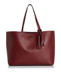 Tory Burch - Black Mcgraw Medium Leather Tote - Lyst