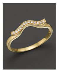 Dana Rebecca - Metallic 14k Yellow Gold And Diamond Sylvie Rose Wave Ring - Lyst