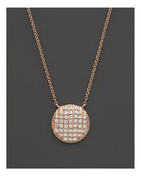 "Dana Rebecca | Pink 14k Rose Gold Diamond Lauren Joy Large Necklace, 16"" | Lyst"