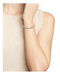 Eddie Borgo Metallic Mini Pave Tennis Bracelet