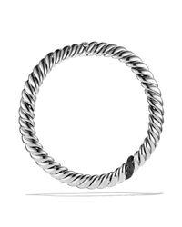 David Yurman | Metallic Hampton Cable Necklace With Black Diamonds | Lyst