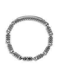 David Yurman - Metallic Chevron Id Bracelet With Black Onyx for Men - Lyst