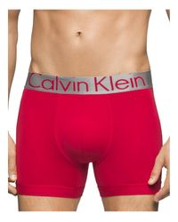 Calvin Klein Red Steel Micro Boxer Briefs for men