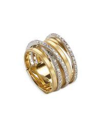 Marco Bicego | Metallic 18k Yellow Gold Goa Seven Row Ring With Diamonds | Lyst