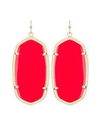 Kendra Scott | Red Danielle Earrings | Lyst