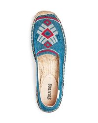 Soludos - Blue Yucatan Embroidered Platform Smoking Slipper - Lyst