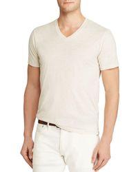 Polo Ralph Lauren - White Custom Fit Jersey V-neck Tee for Men - Lyst