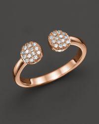 Dana Rebecca | Pink Diamond Lauren Joy Double Ring In 14k Rose Gold | Lyst