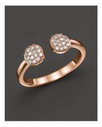 Dana Rebecca Pink Diamond Lauren Joy Double Ring In 14k Rose Gold