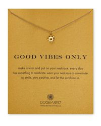 Dogeared Metallic Good Vibes Only Necklace, 18""